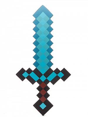 Minecraft Меч Алмазный пиксельный 60см