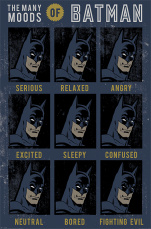 Постер Maxi Pyramid – DC Originals (The Many Moods Of Batman) (61 x 91 см)