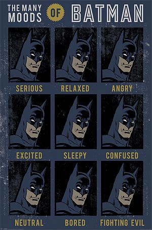 Постер Maxi Pyramid – DC Originals (The Many Moods Of Batman) (61 x 91 см) фото