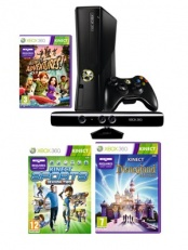 Microsoft Xbox 360 4 Gb + сенсор Kinect + Kinect Sports 2 + Disneyland Adventures + Kinect Adventures