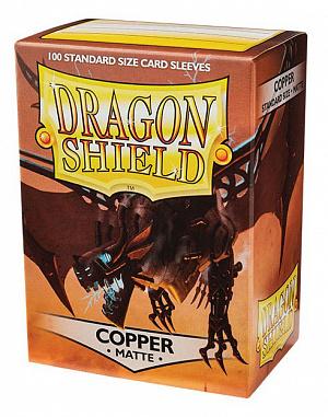 Протекторы для карт Dragon Shield (100 шт.): цвет - матовая медь фото
