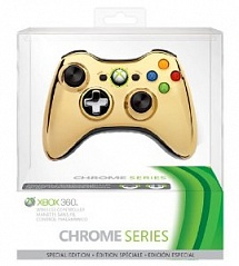 Controller Wireless R Chrome Series Gold (GameReplay)