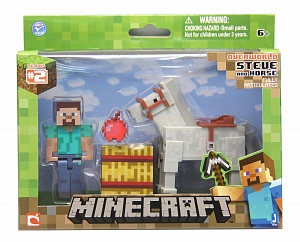 Фигурка Minecraft Steve Horse 2-Pack