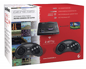 Игровая приставка SEGA Retro Genesis HD Ultra + 50 игр ZD-06 (2 беспроводных 2.4 ГГц джойстика, HDMI от GamePark.ru