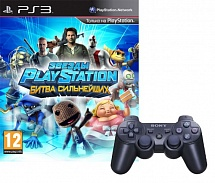 Controller Wireless Dual Shock 3 Black + Звезды PlayStation