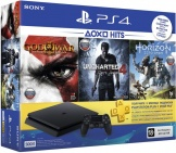 Sony PlayStation 4 Slim (500 Gb) Black (CUH-2008A) + Horizon ZD + Uncharted 4: Путь вора + God of War III + подписка PlayStation Plus на 3 мес.