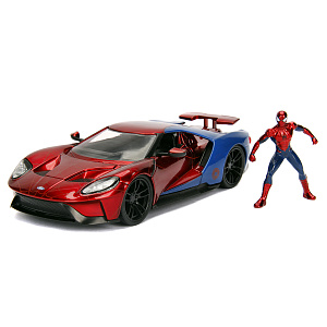 Машина с фигуркой Hollywood Rides – 2017 Ford GT W/Spiderman Figure (масштаб 1:24) (99725)
