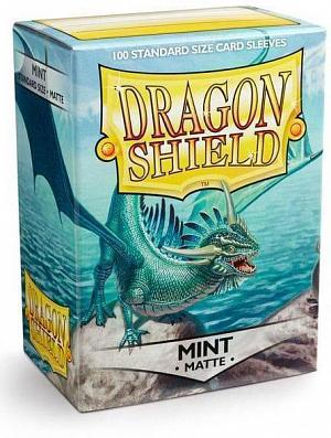 Протекторы для карт Dragon Shield (100 шт.): цвет - мятный матовый фото