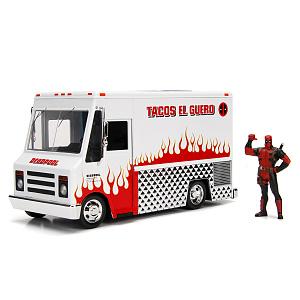 Машина с фигуркой Hollywood Rides – Deadpool Taco Truck W/Deadpool Figure (масштаб 1:24) (99730)