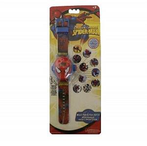 Часы наручные электронные Spider-Man с проектором и 10 сменными изображениями