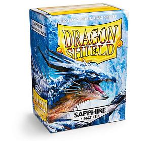 Протекторы для карт Dragon Shield (100 шт.): цвет - сапфировый матовый фото