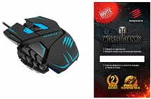 "PC Мышь Mad Catz M.M.O.TE Gaming Mouse - Matt Black + подарок от ""World of Tanks"""