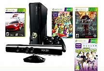 Xbox 360 250 Gb Kinect + Kinect Adventures+ Forza Motorsport 4 + Ведьмак 2 + Kinect Sports