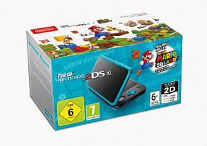 Игровая Приставка New Nintendo 2DS XL (черный + бирюзовый) + Super Mario 3D Land от GamePark.ru