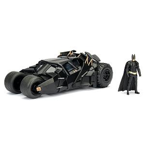 Машина с фигуркой Jada Toys – Batmobile: The Dark Knight Batmobile W/Batman Figure (масштаб 1:24) (98261)