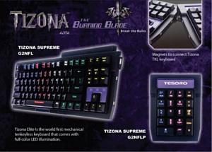 Клавиатура Tesoro Tizona Red + Numpad