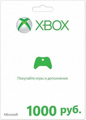 Карта оплаты Xbox Live 1000 рублей (цифровой код) от GamePark.ru