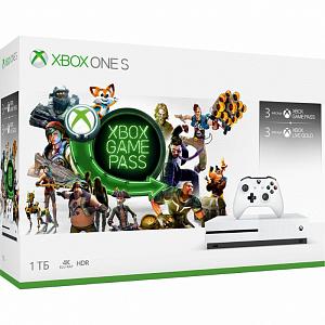 Игровая консоль Xbox One S 1 TB + Xbox Game Pass на 3 месяца + Подписка Xbox Live Gold на 3 месяца фото