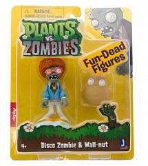 Фигурка Plants vs. Zombies: Disco Zombie & Wall-nut