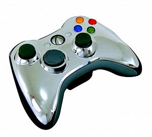 Проводной геймпад для Xbox 360 (цвет Silver chrome) (Не оригинал) фото