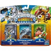 Skylanders Giants.Chop Chop, Shroomboom, Cannon