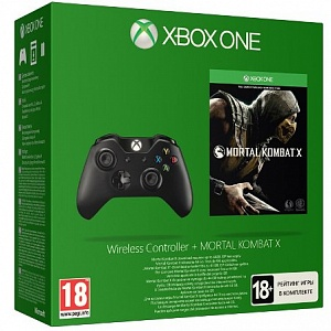 Controller Wireless Black + Mortal Kombat X (XboxOne)