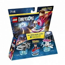 LEGO Dimensions Level Pack - Back to the Future (DeLorean Time Machine, Marty McFly, Hoverboard)