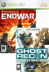 Tom Clancy's Ghost Recon Advanced Warfighter 2 + End War (Xbox 360)