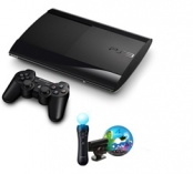 Sony PlayStation 3 Super Slim 12Gb + Праздник спорта 2 + GT5 + PS Move Starter Pack