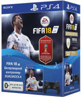Геймпад Sony DualShock v2 (CUH-ZCT2E) + Игра FIFA 18 + Подписка на PlayStation Plus на 3 месяца