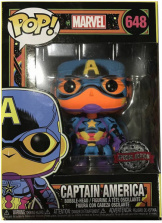 Фигурка Funko POP Marvel: Black Light – Captain America (Exc) (48845)